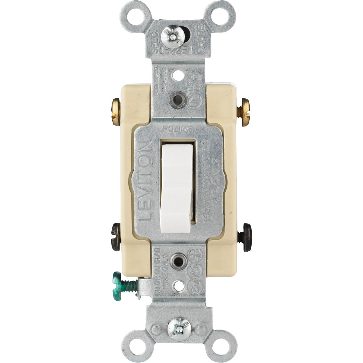 WHT 4-WAY GRND SWITCH - S02-CS415-2WS by Leviton Mfg Co