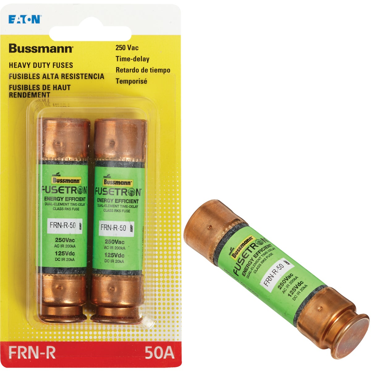 50A CARTRIDGE FUSE - BP/FRN-R-50 by Bussmann Cooper