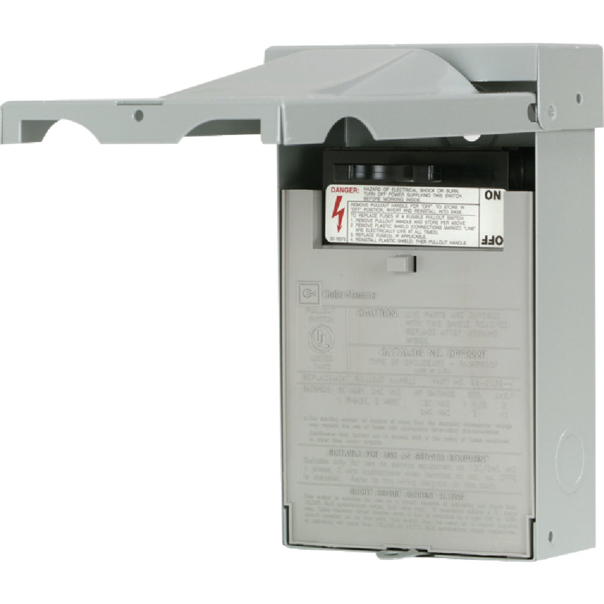 60A AC FUSED DISCONNECT - DPF222RP by Eaton Corporation