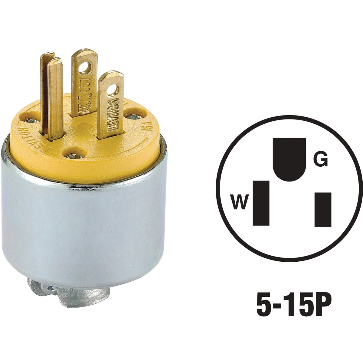 YEL ARMORED PLUG - 515PA by Leviton Mfg Co