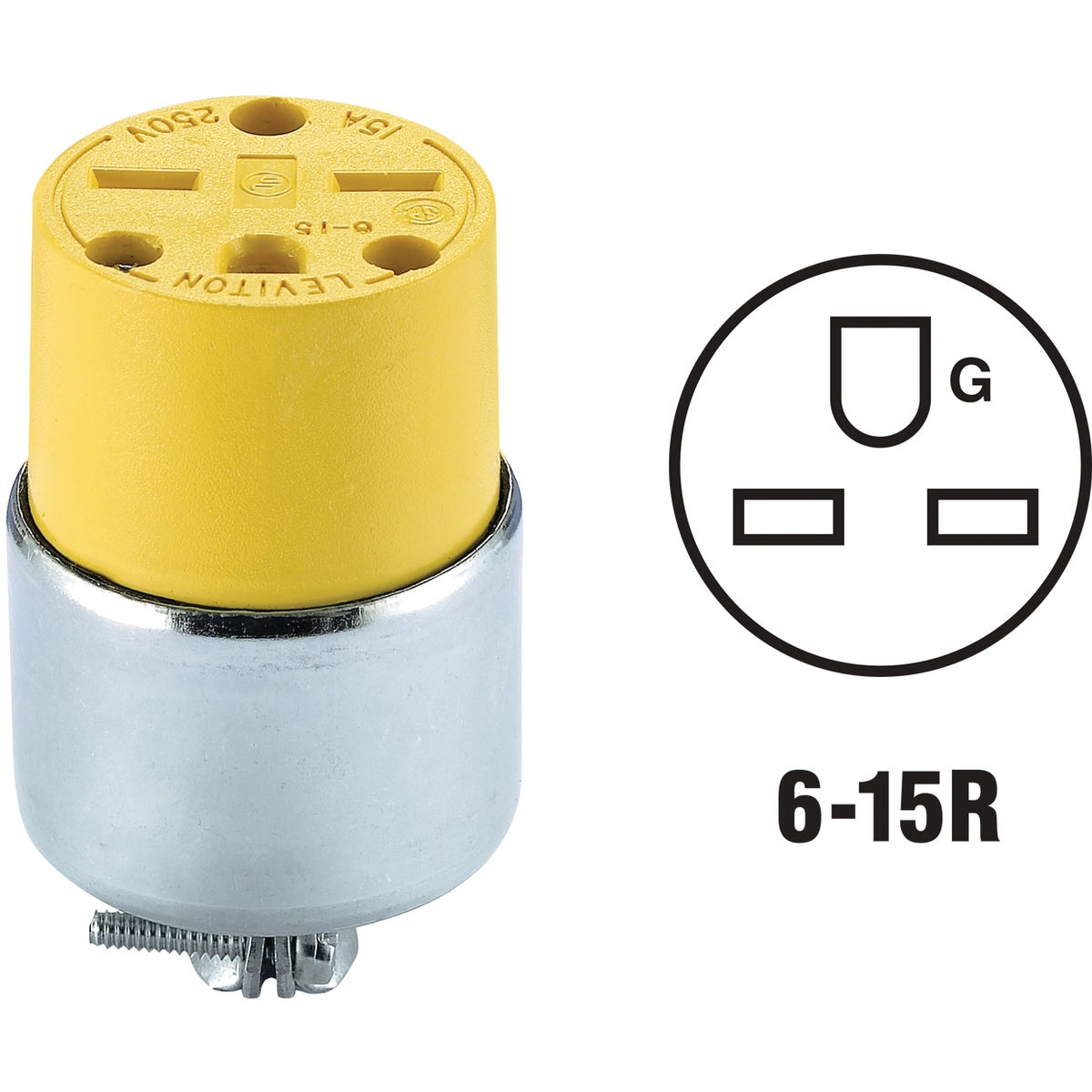 YEL ARMORED CONNECTOR - 615CA by Leviton Mfg Co