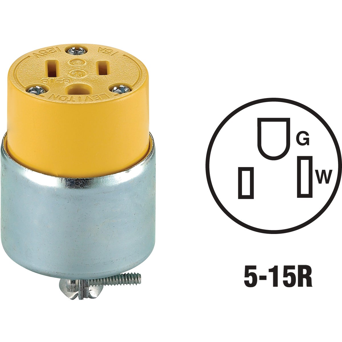 YEL ARMORED CONNECTOR - 515CA by Leviton Mfg Co