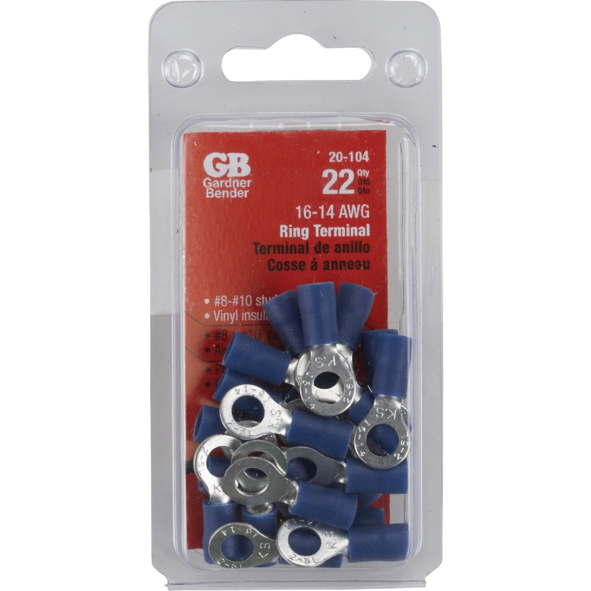 GB Electrical 16-14 RING TERMINAL 20-104