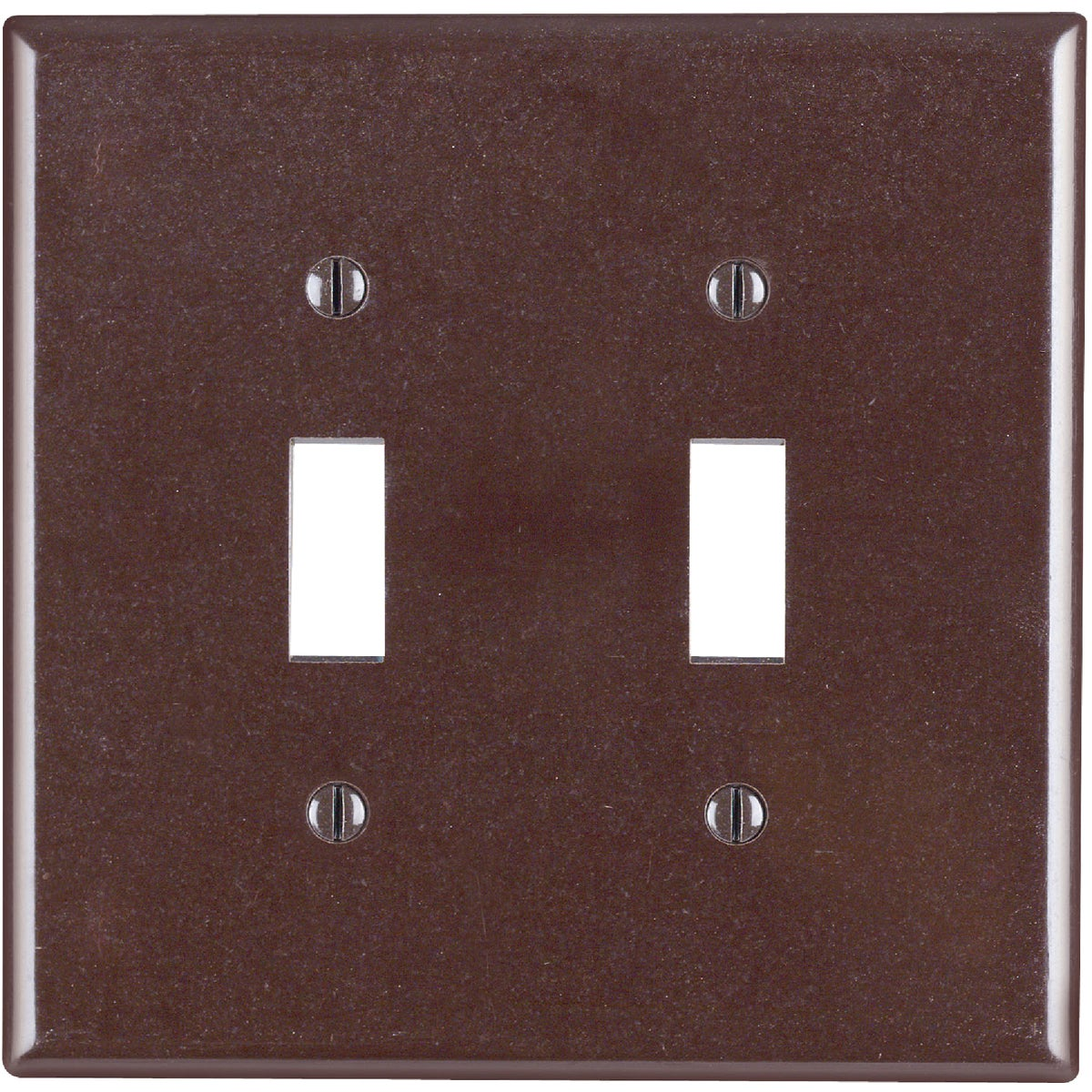 BRN 2-TOGGLE WALL PLATE - 80509 by Leviton Mfg Co