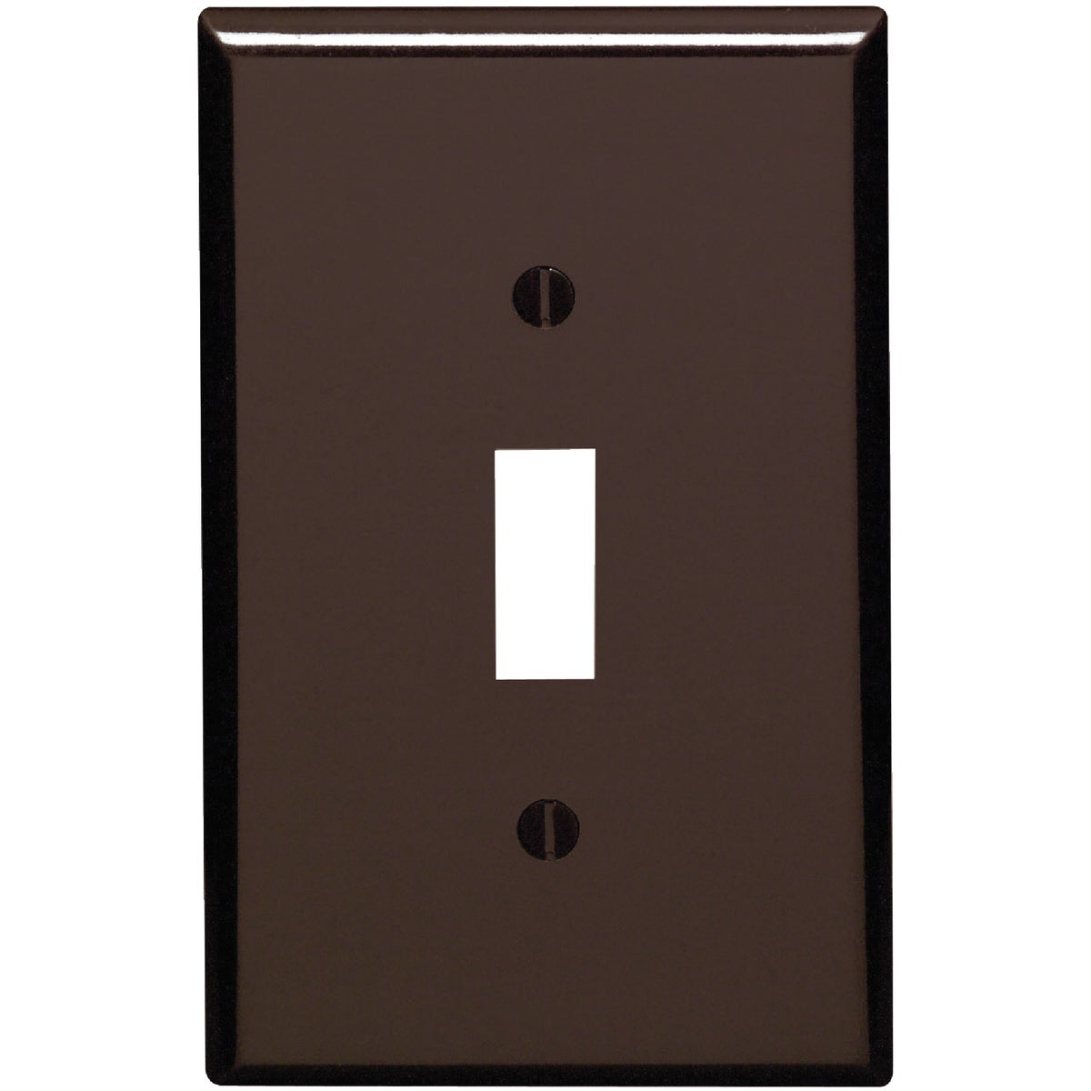 BRN 1-TOGGLE WALL PLATE - 80501 by Leviton Mfg Co