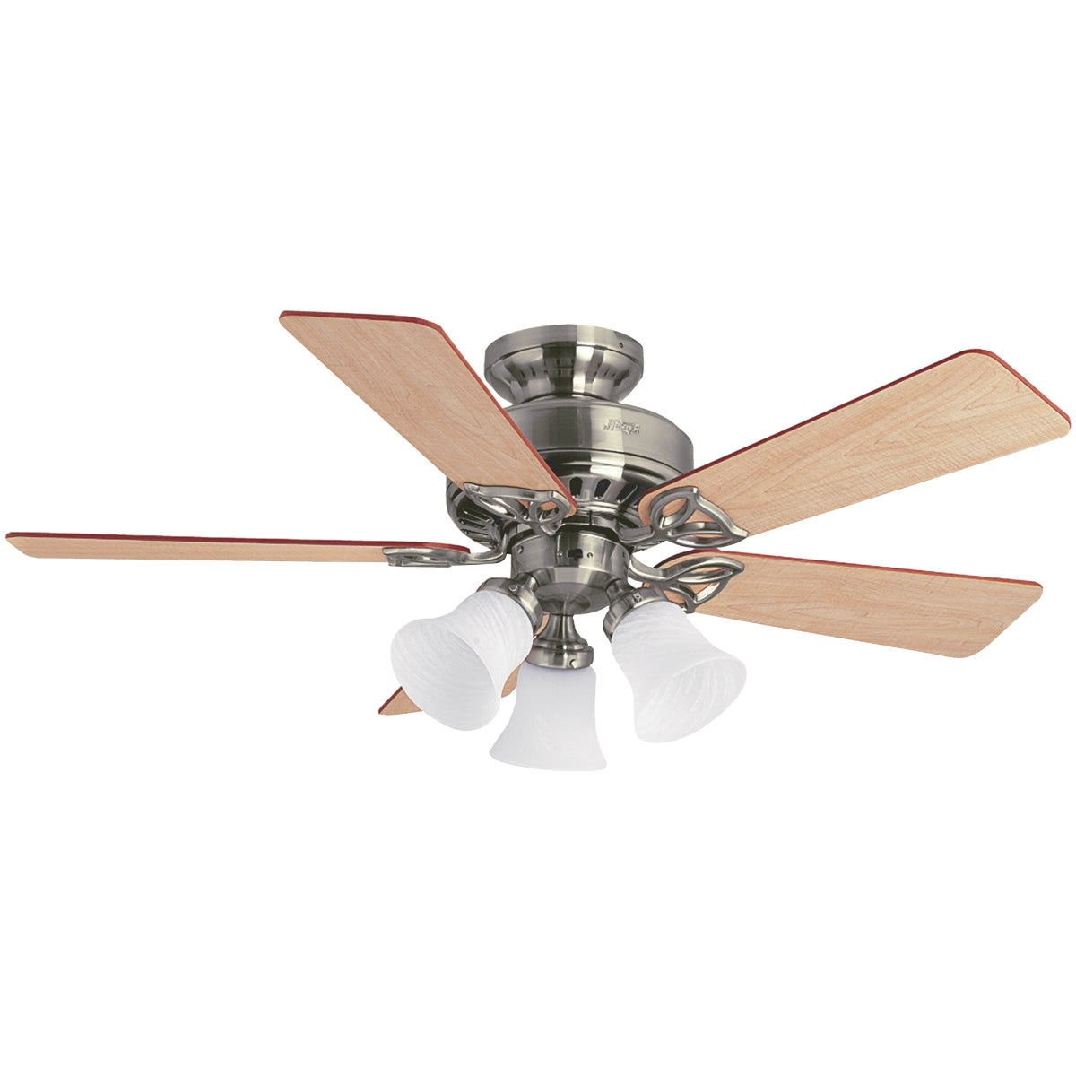 "42"" NKL CEIL FAN W/LIGHT - 53079 by Hunter Fan Co"