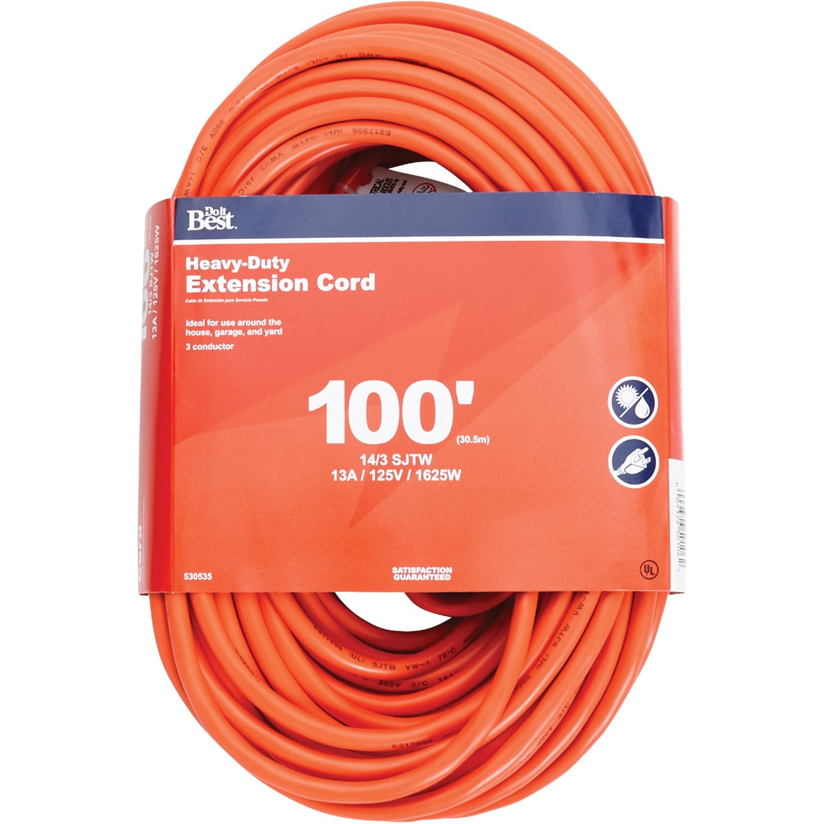 100' 14/3 OUTDOOR CORD - 550627 by Coleman Cable Import