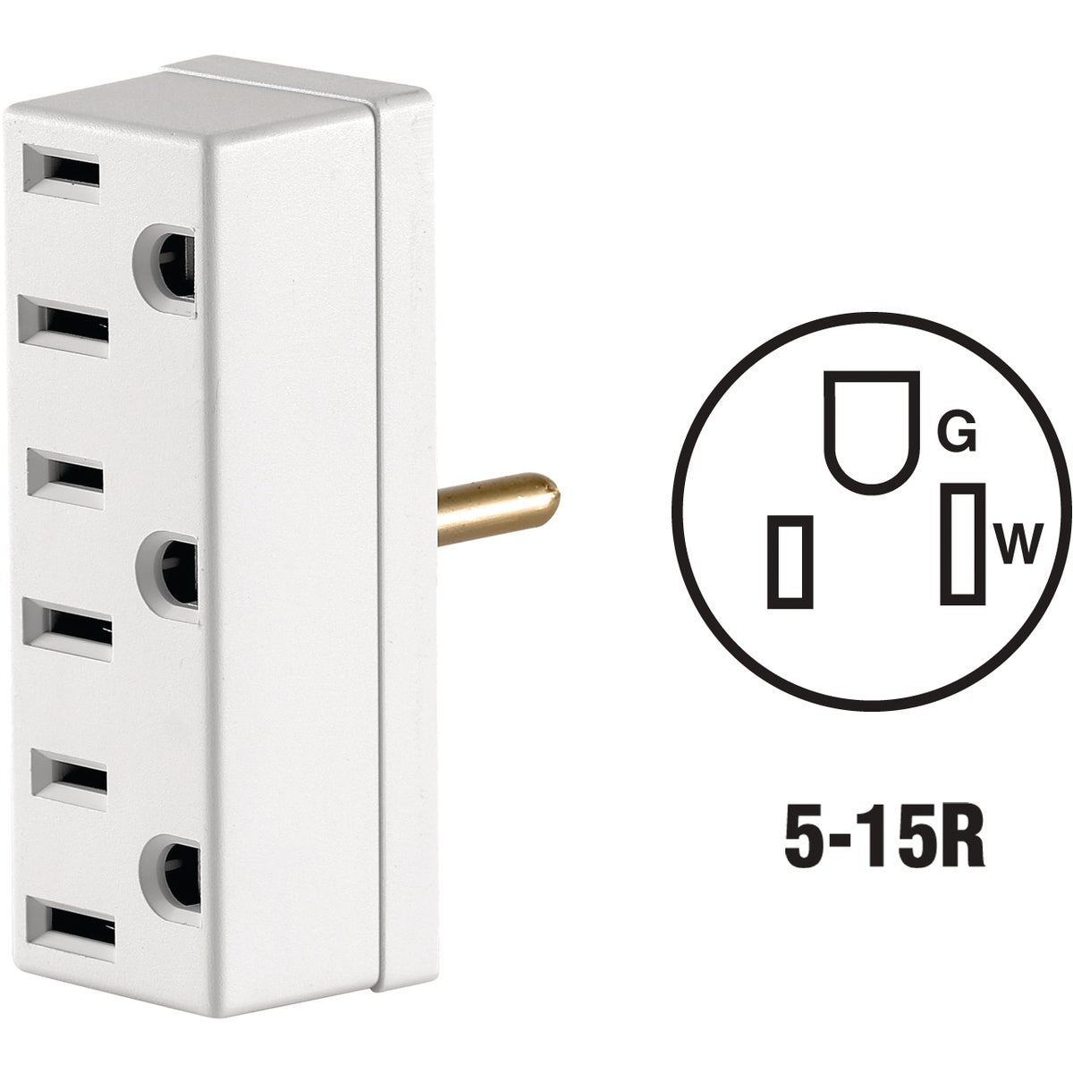WHT GRND TRIPLE TAP - 007697W by Leviton Mfg Co