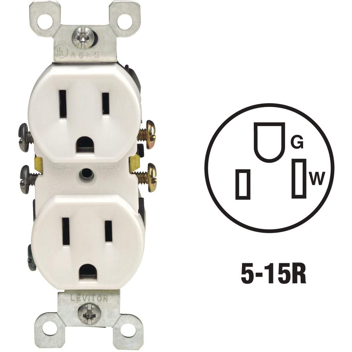 WHT DUPLEX OUTLET - 8765320W by Leviton Mfg Co