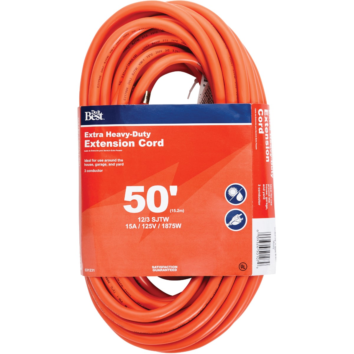50' 12/3 OUTDOOR CORD