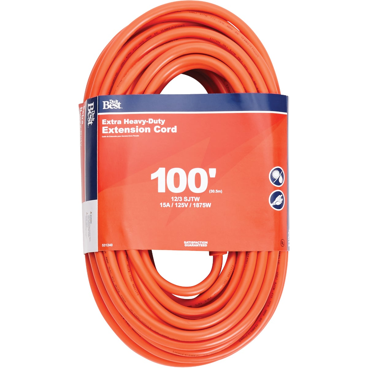 100' 12/3 OUTDOOR CORD - 550530 by Coleman Cable Import
