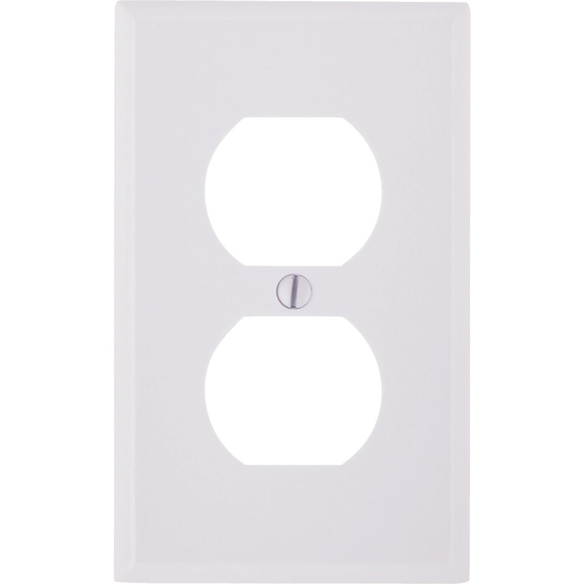 WHT 2-OUTLET WALL PLATE