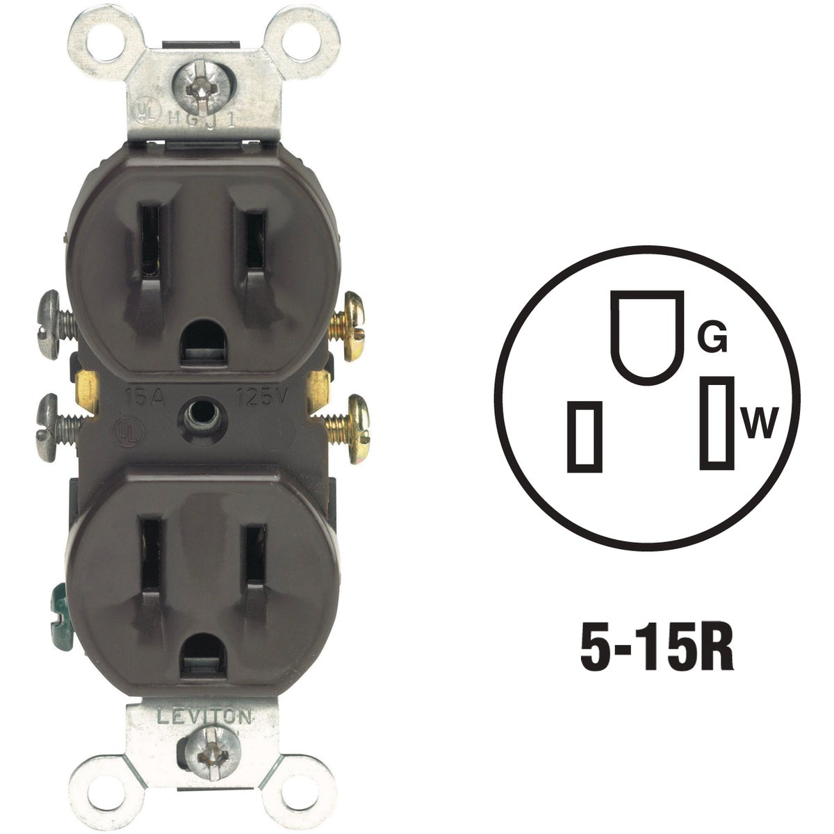 BRN DUPLEX OUTLET - 5320CP by Leviton Mfg Co