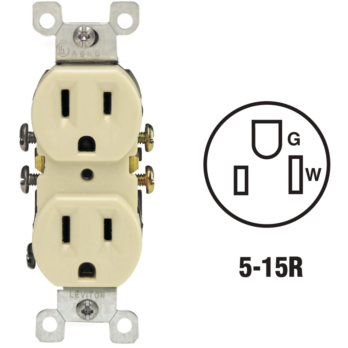 IV DUPLEX OUTLET - 30305320ICP by Leviton Mfg Co