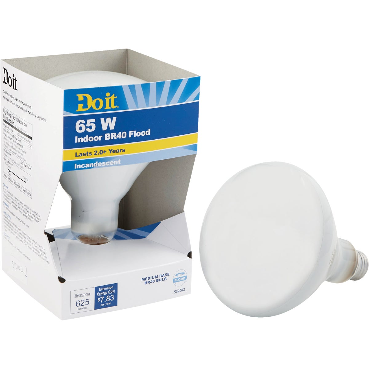 65W BR40 REFLECTOR BULB - 18394 65BR40/FL-DIB by G E Private Label