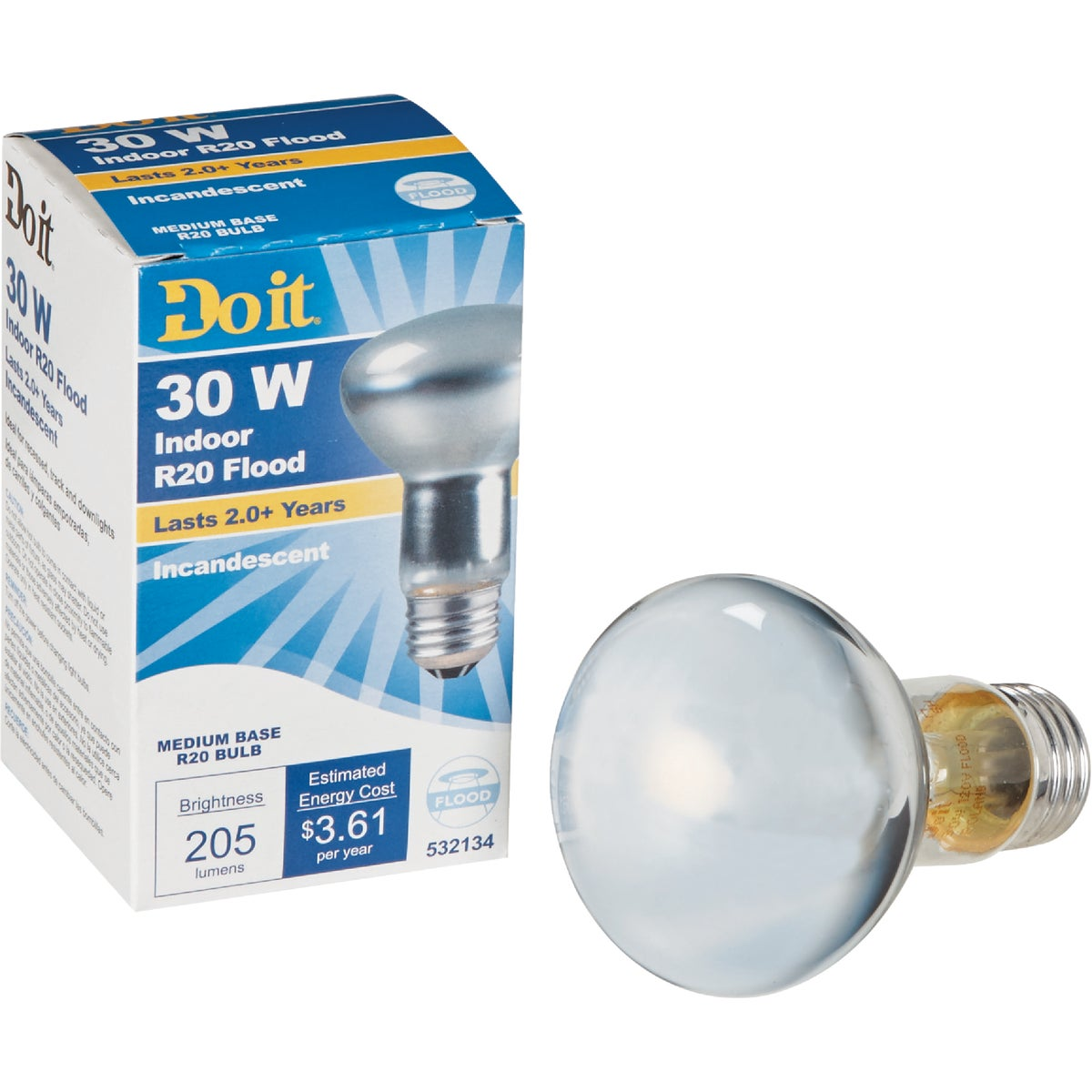 30W R20 REFLECTOR BULB - 18387 by G E Private Label