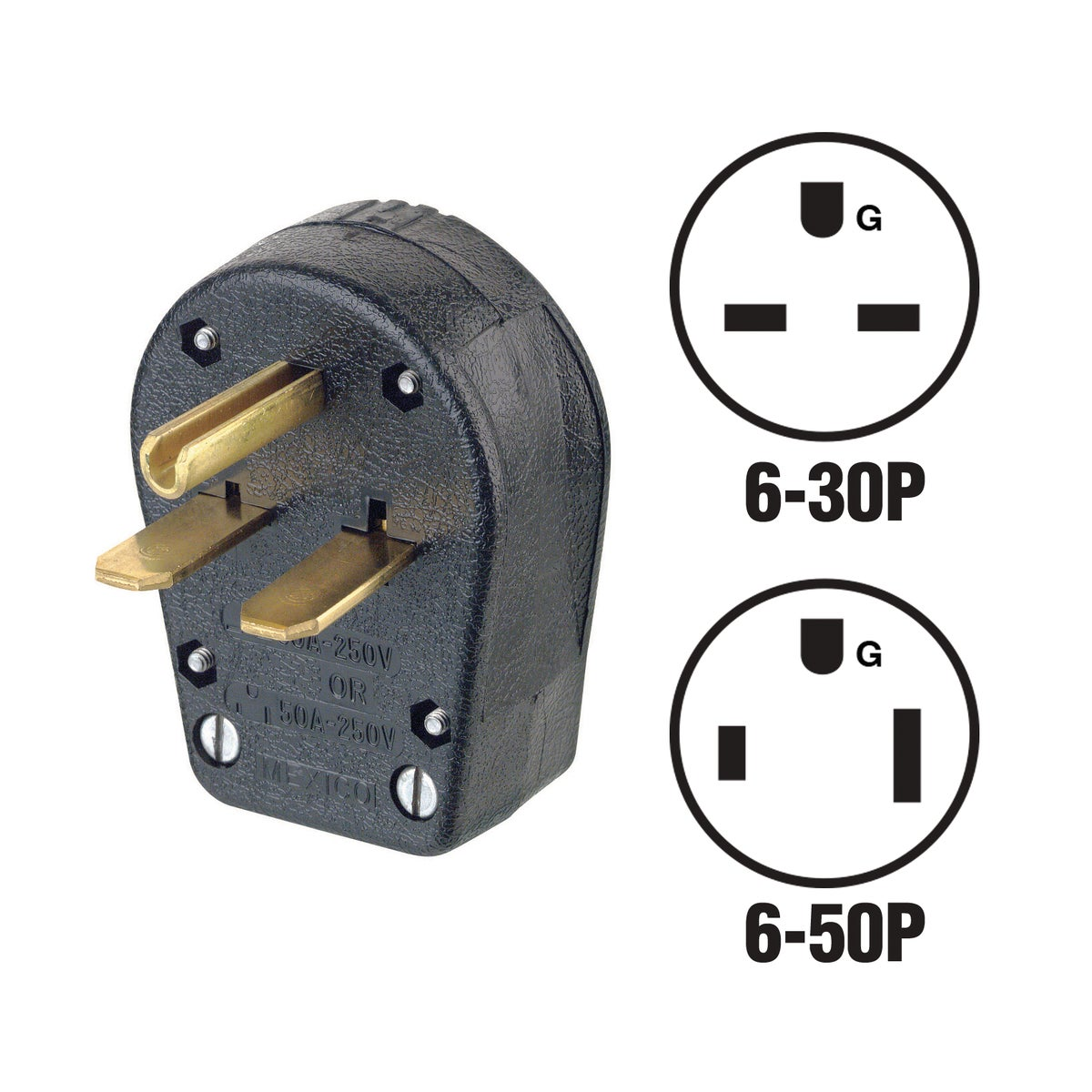 30A/50A DUAL PLUG - R50-931 by Leviton Mfg Co
