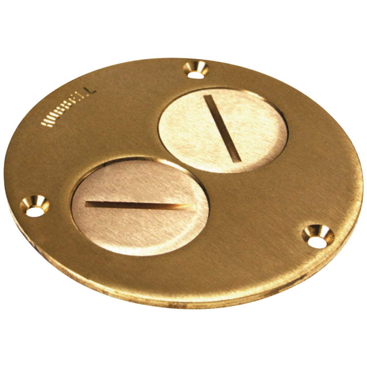 BRASS OUTLET COVER - P60DU by Thomas & Betts