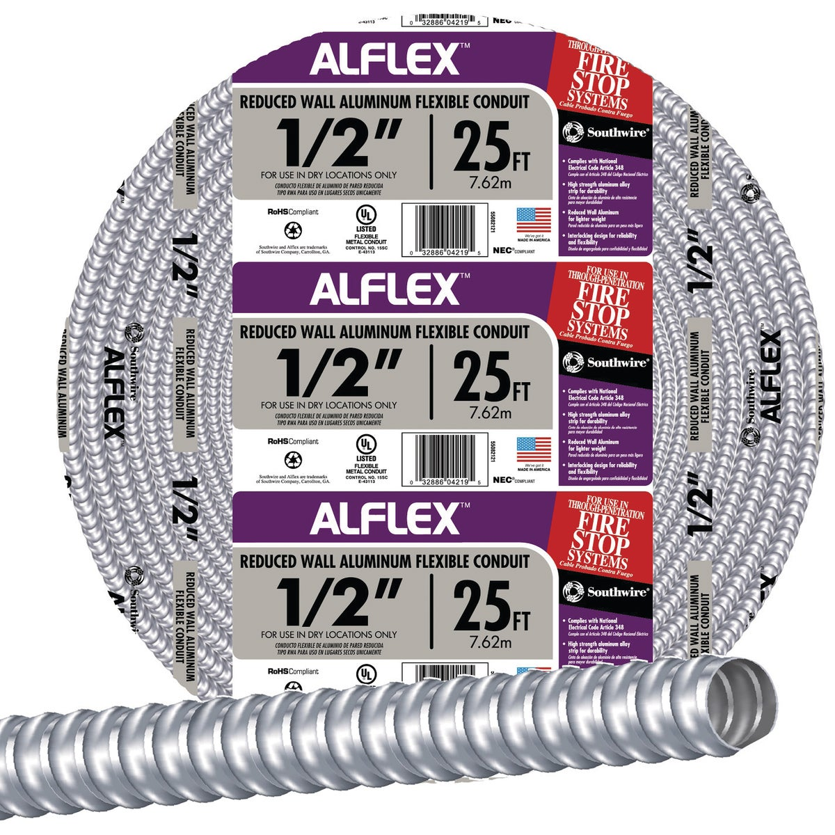 "25' 1/2"" FLEX CONDUIT - 55082121 by Southwire Company"