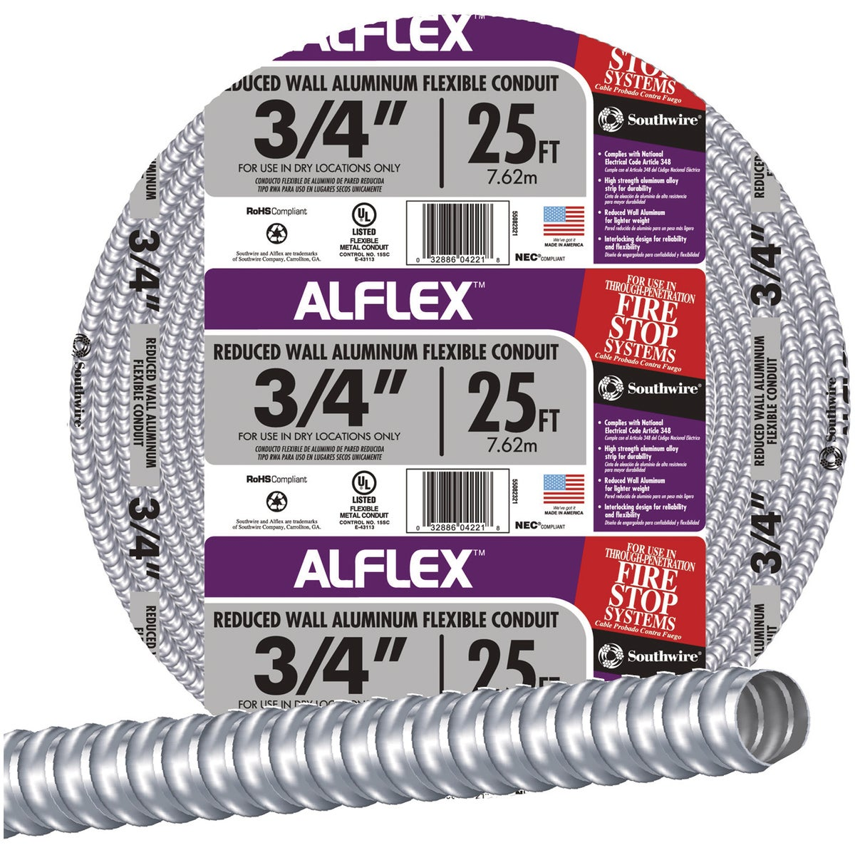 "25' 3/4"" FLEX CONDUIT - 55082321 by Southwire Company"