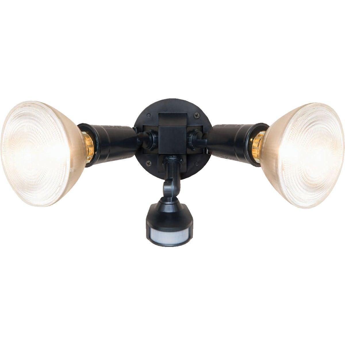 180-Degree Non-Metallic Incandescent Motion Floodlight Fixture