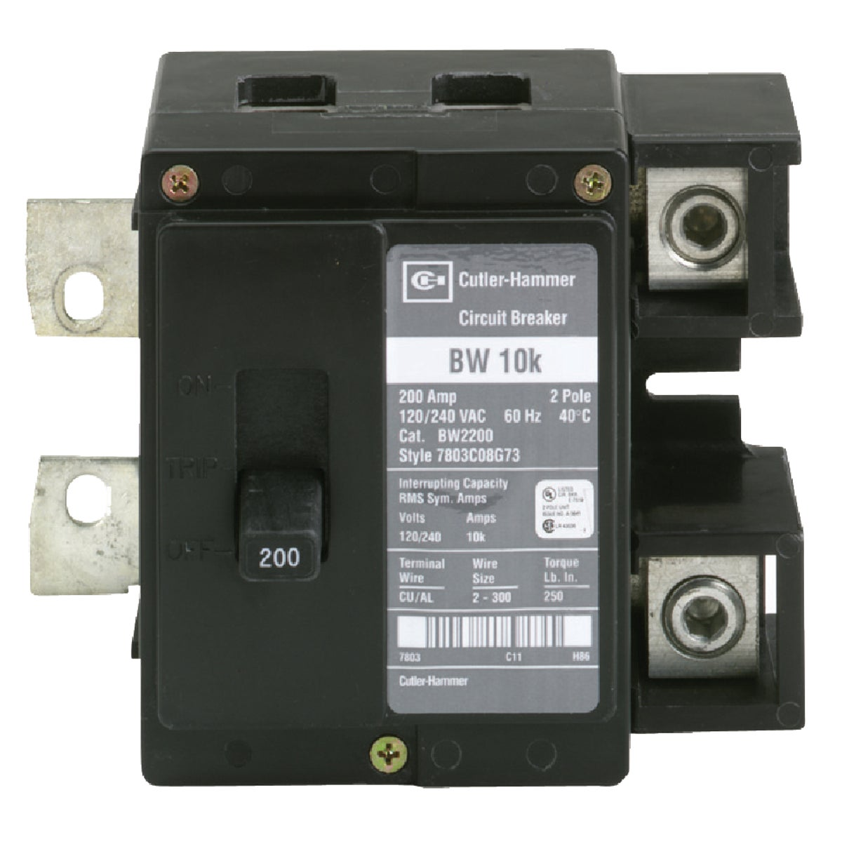 200A MAIN BREAKER - BW2200 by Eaton Corporation