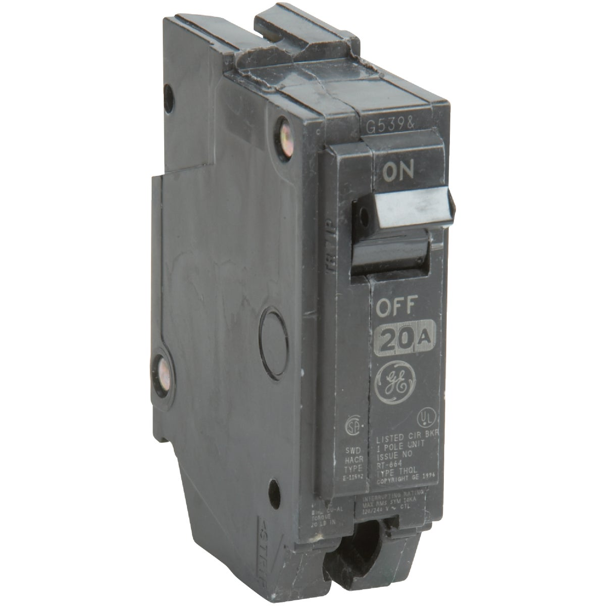 20A SP CIRCUIT BREAKER - THQL1120 by G E Industrial