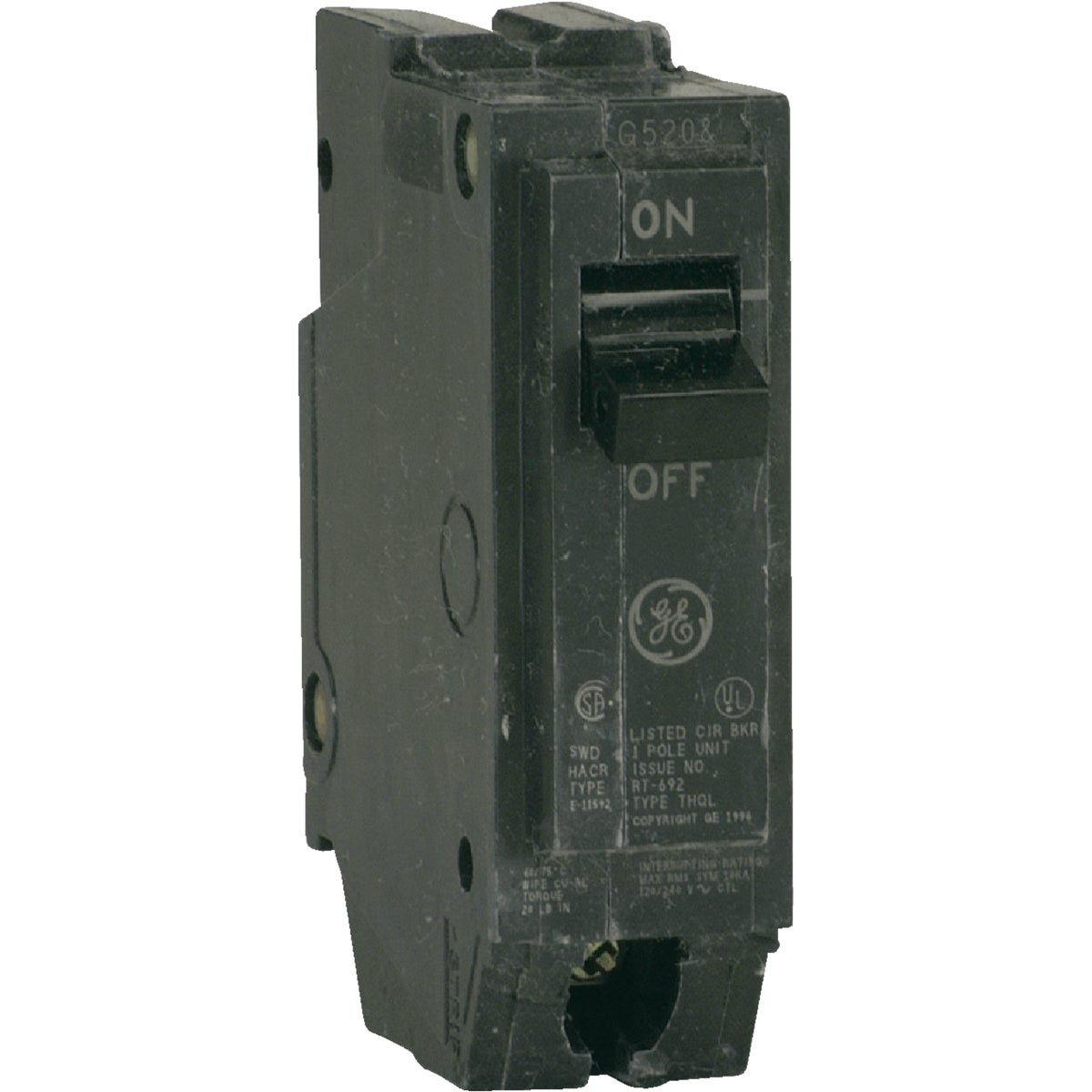 15A SP CIRCUIT BREAKER