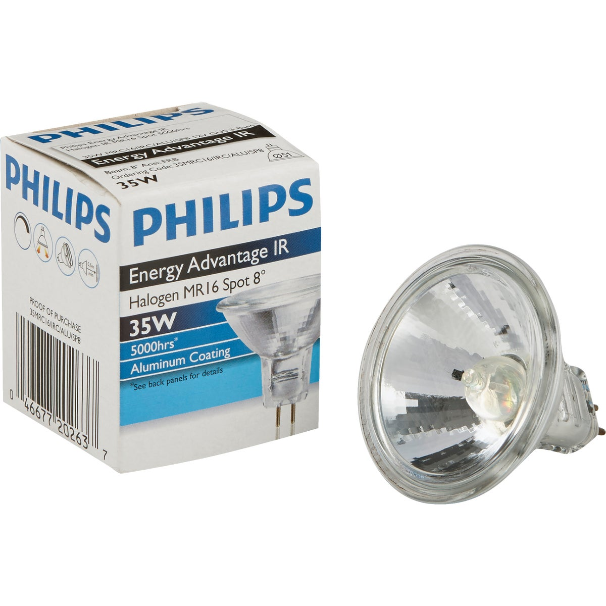 20W SPOT HALOGEN BULB - 25481 Q20MR16/SP by G E Lighting