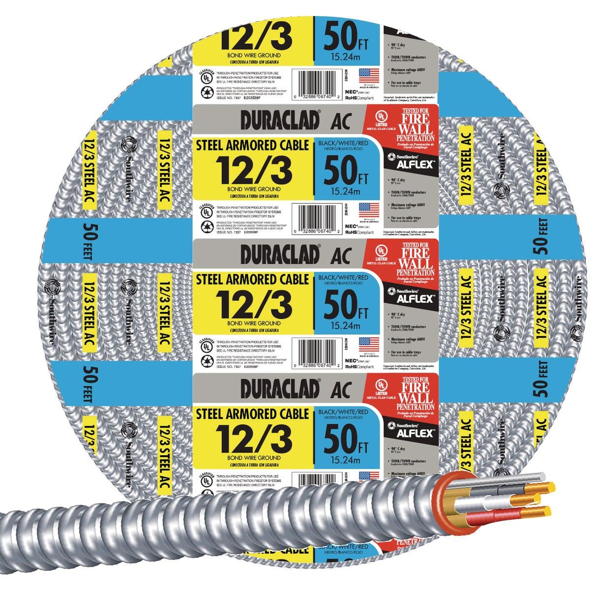 50' 12/3 STL ARMOR CABLE