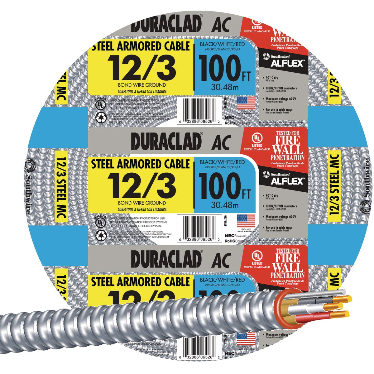 100' 12/3 STL ARMR CABLE - 55275023 by Southwire Company