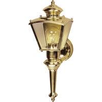Brass Motion Coach Light Security Fixture