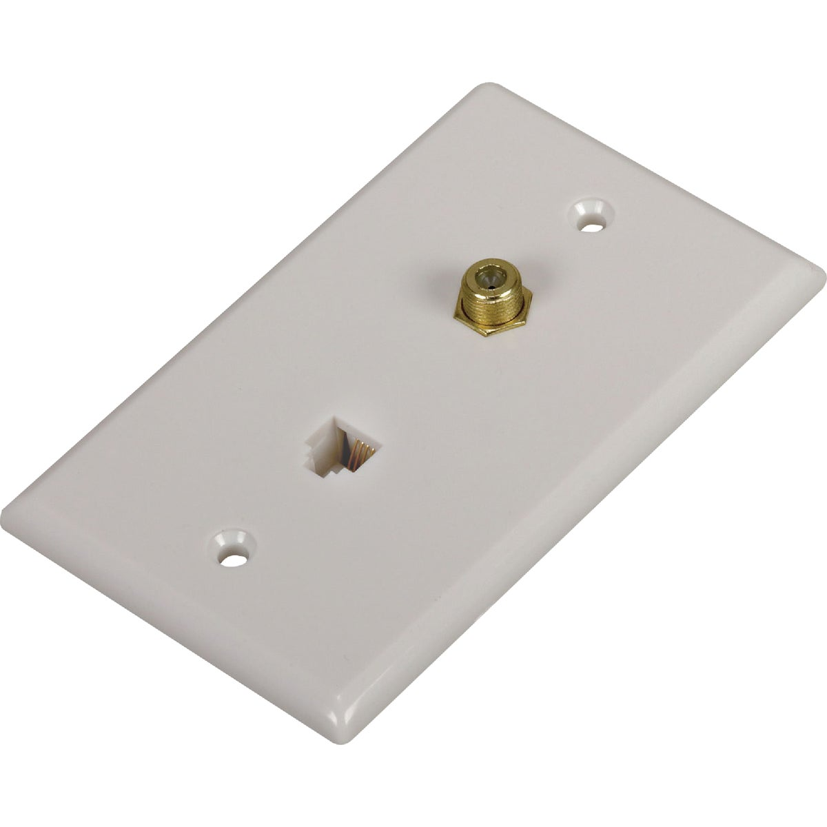 PHONE/COAX WALL PLATE - TP062WHRV by Audiovox Accessories