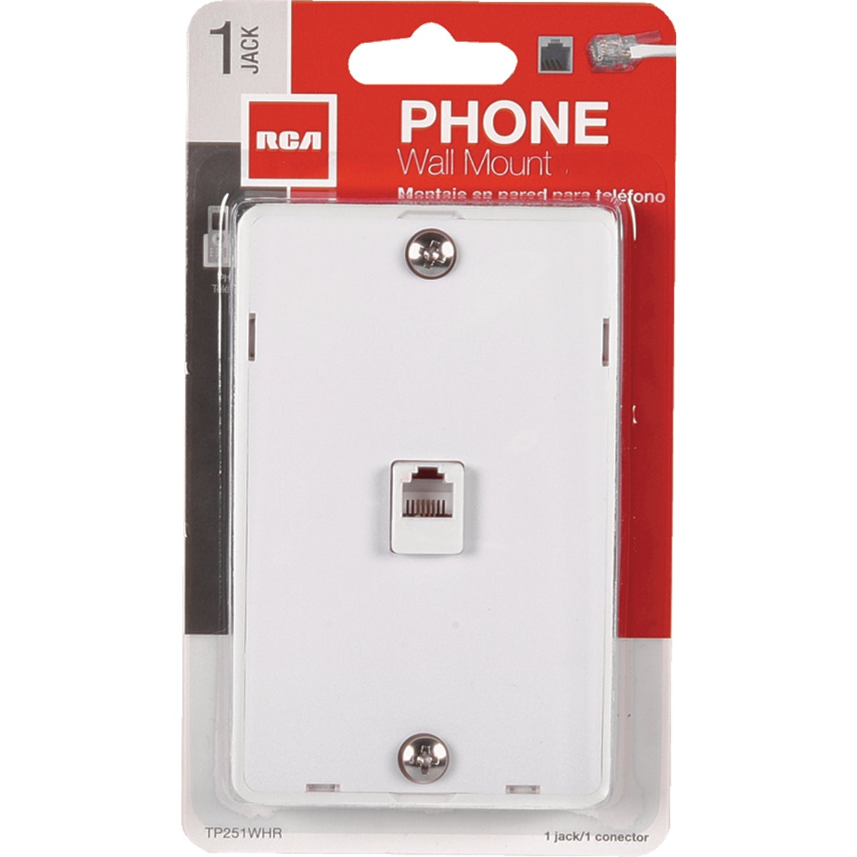 WHT WALL PHONE JACK - TP251WHRV by Audiovox Accessories