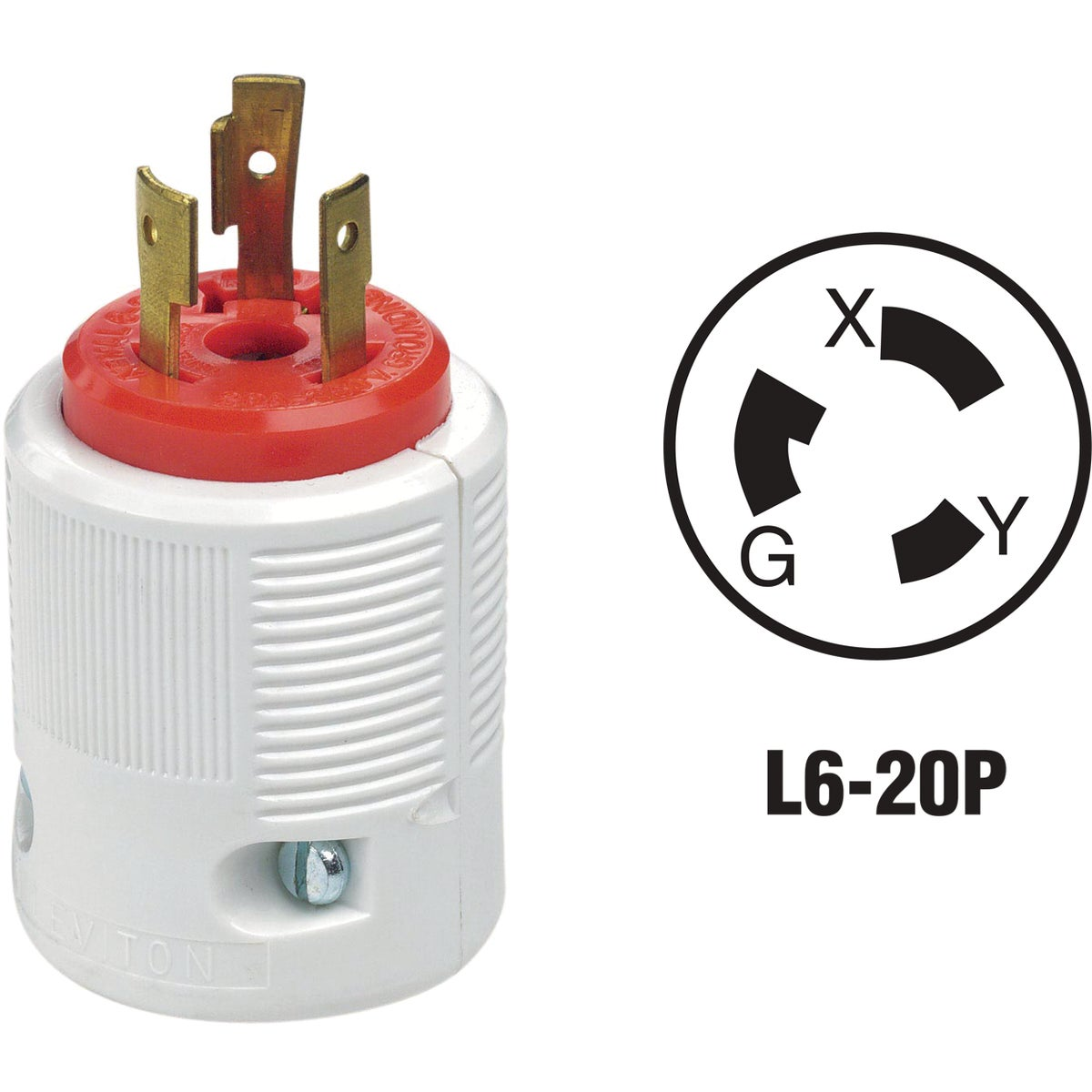 20A LOCKING CORD PLUG - 70620LP by Leviton Mfg Co