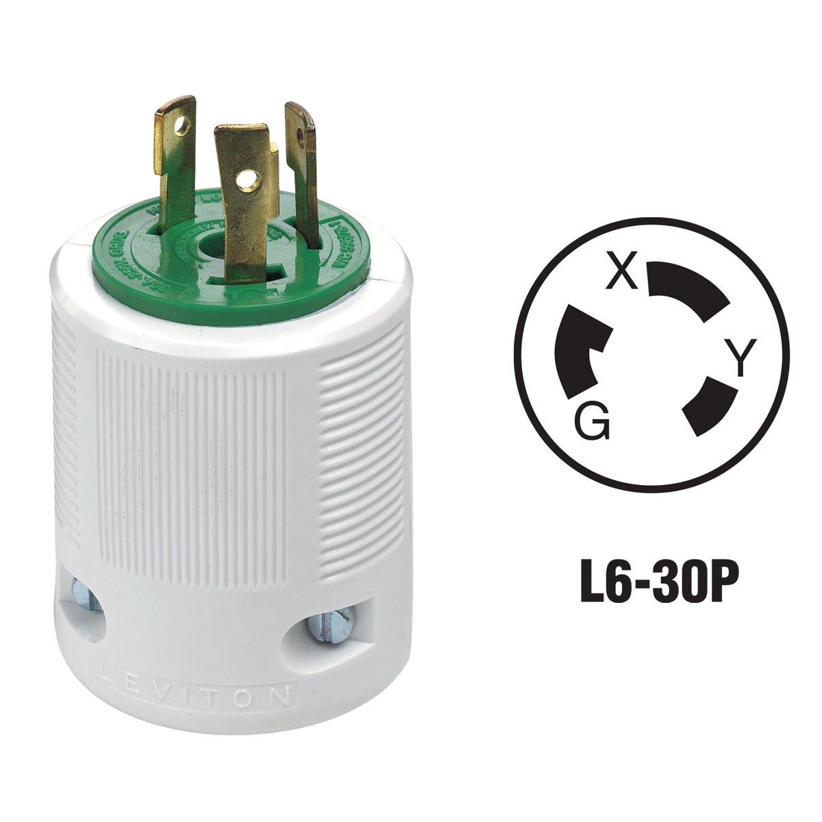 30A LOCKING CORD PLUG - 022-70630LP by Leviton Mfg Co