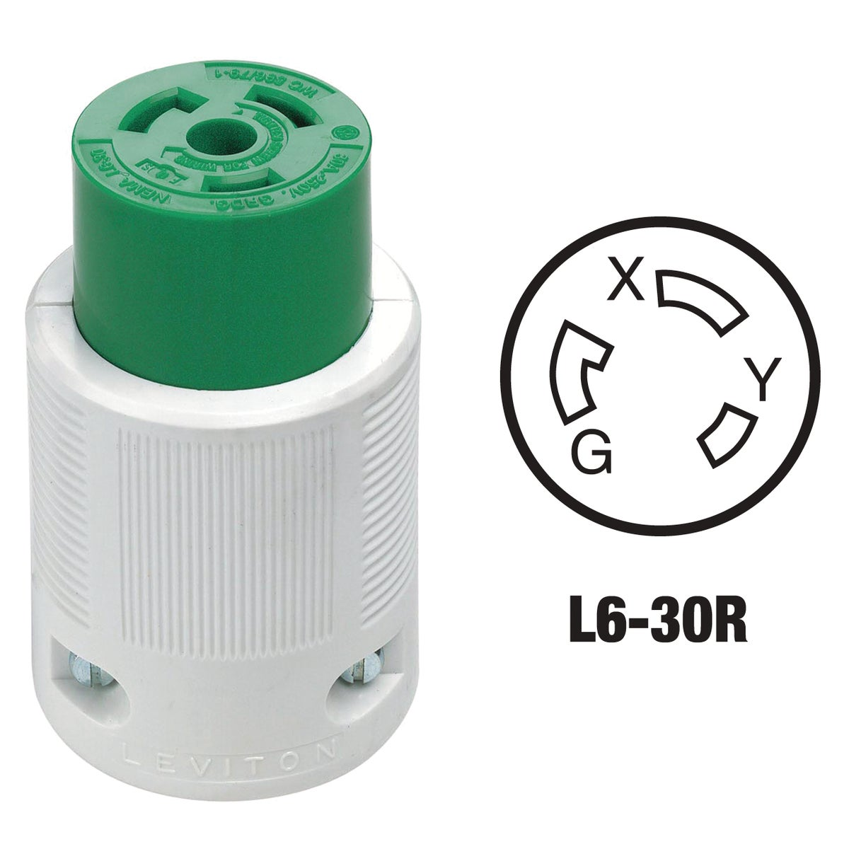 30A LOCKG CORD CONNECTOR - 021-70630LC by Leviton Mfg Co
