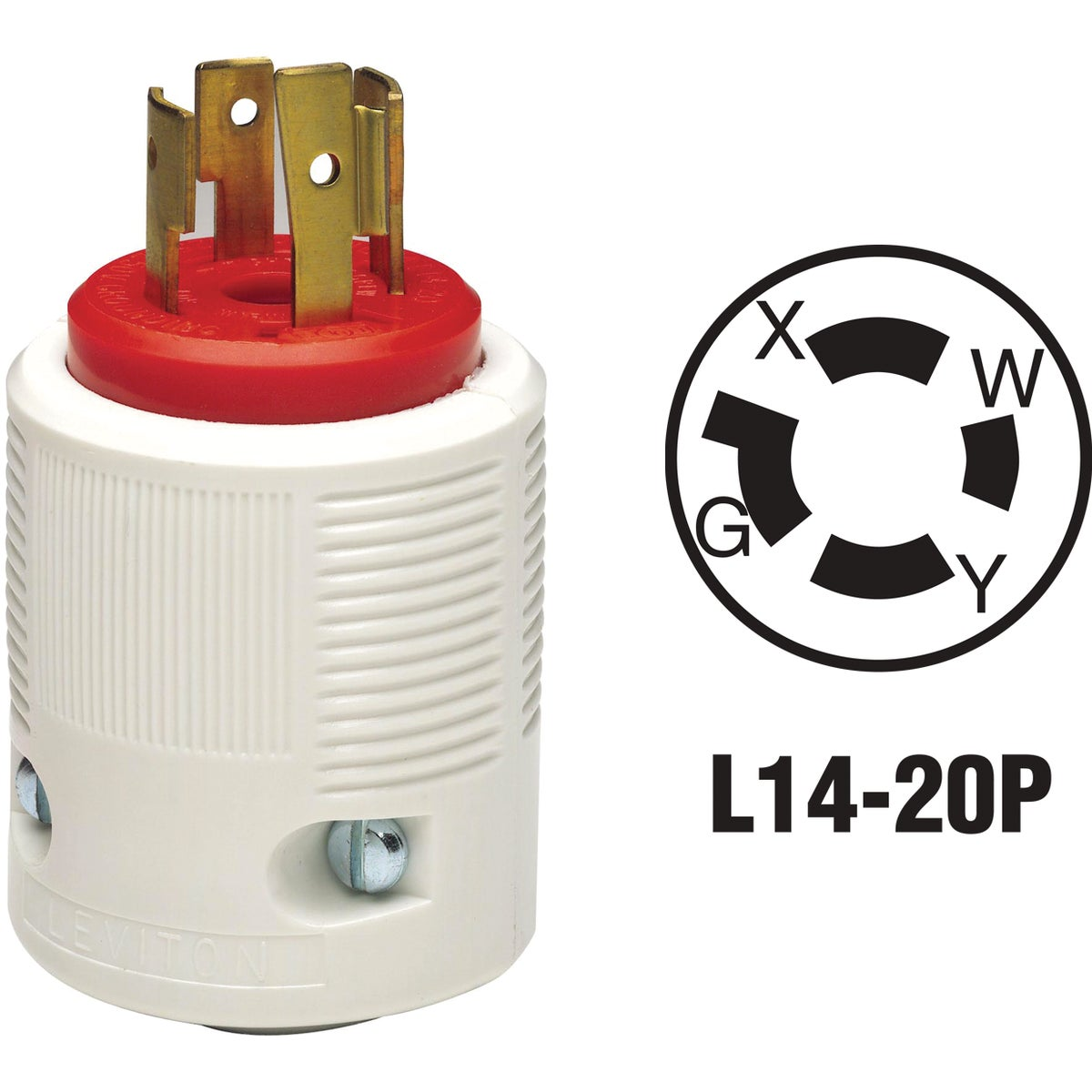 20A LOCKING CORD PLUG - 71420LP by Leviton Mfg Co