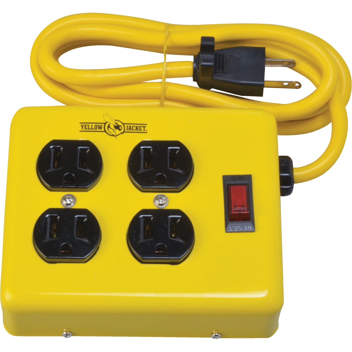 4-OUTLET MTL POWER STRIP - 2177 by Woods Wire Coleman