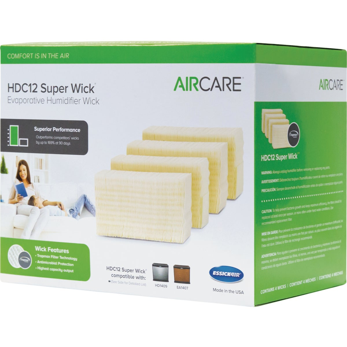 4PK HUMIDIFER FILTR WICK - HDC12 by Essick Air Products