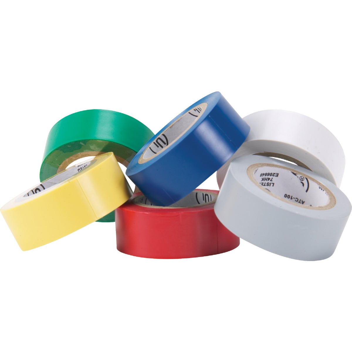 6PK COLR ELECTRICAL TAPE