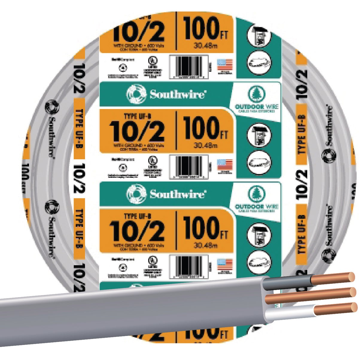 100' 10-2 UFW/G WIRE - 13056723 by Southwire Company