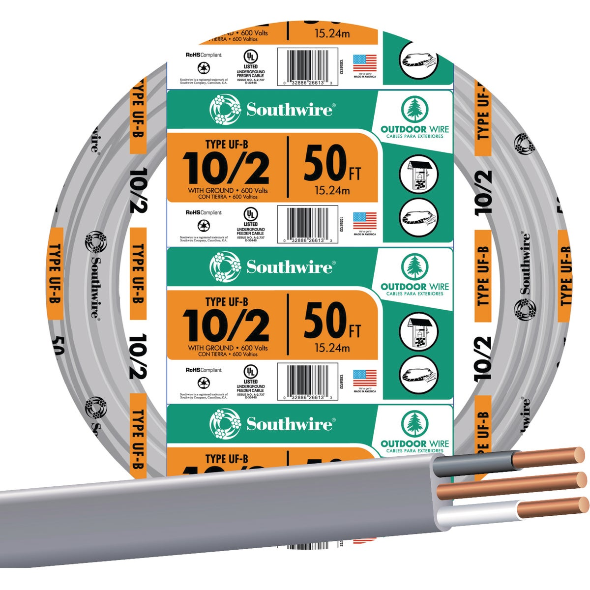 50' 10-2 UFW/G WIRE - 13056722 by Southwire Company