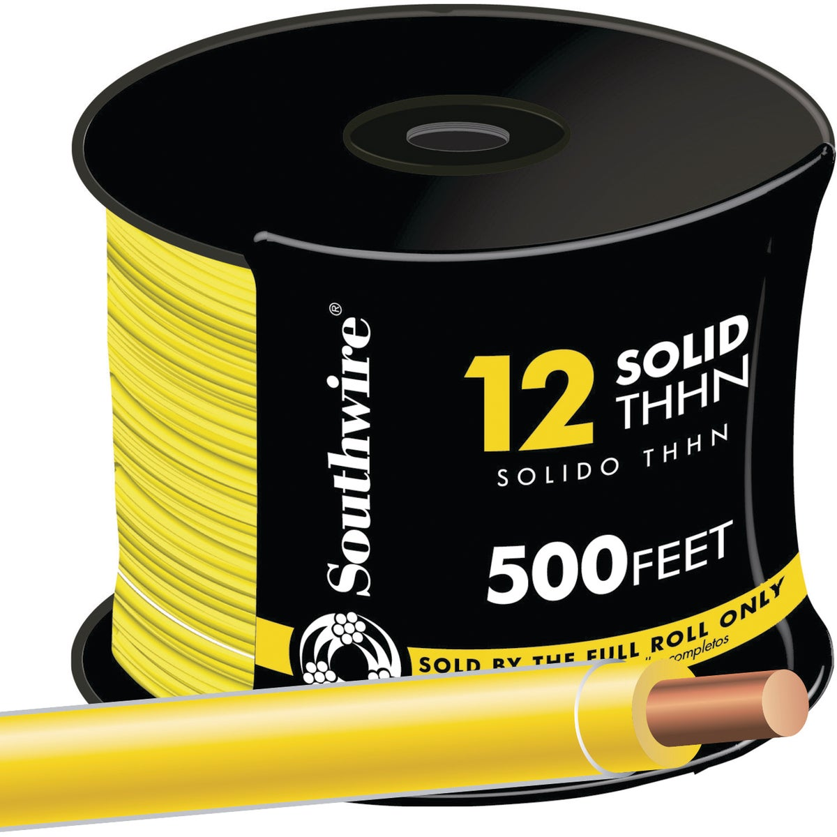 500' 12SOL YEL THHN WIRE - 11592358 by Southwire Company