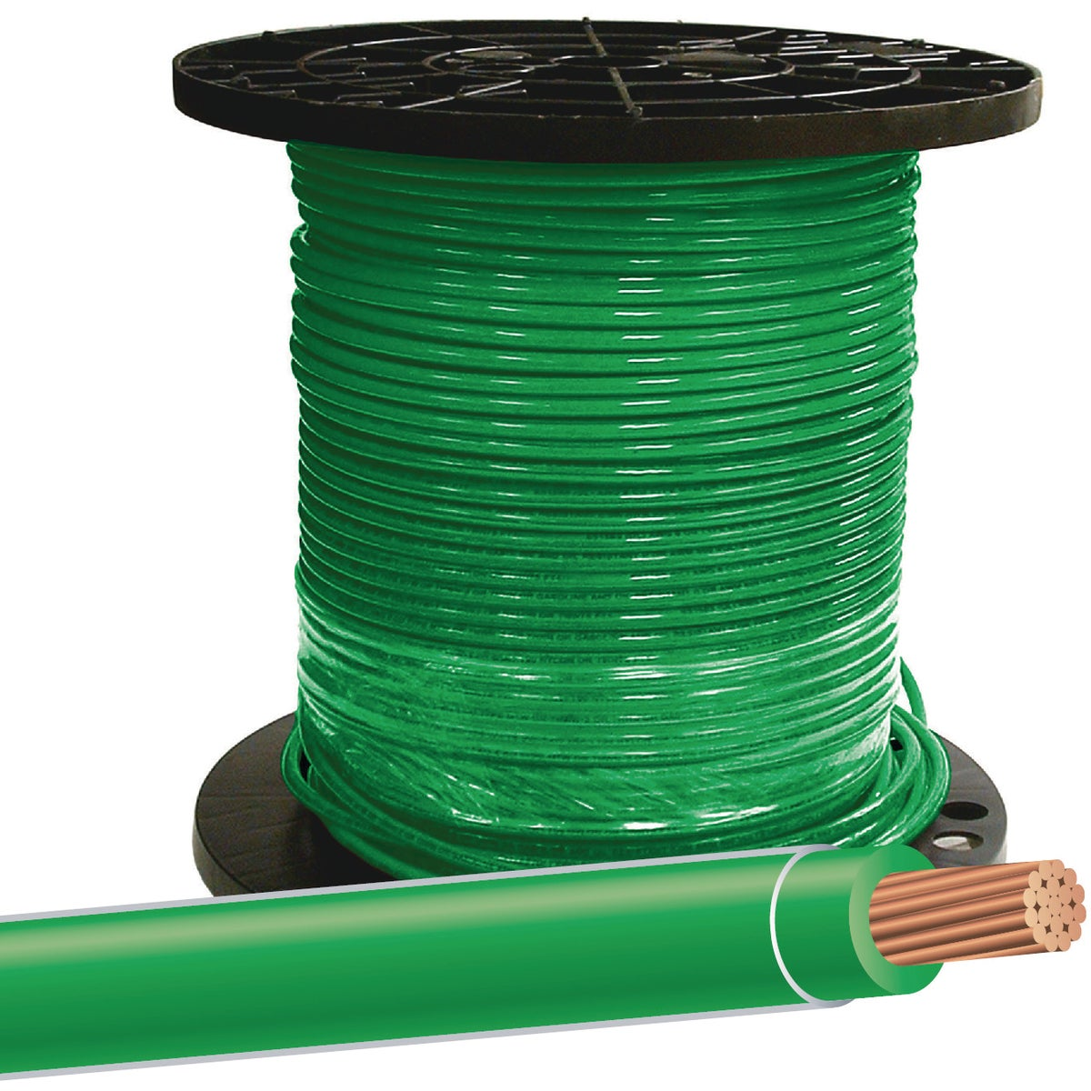 500' 8STR GRN THHN WIRE - 20492512 by Southwire Company