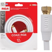 Audiovox Accessories 12' RG6 WHT COAX CABLE VH612WHNV