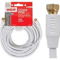 Audiovox Accessories 25' RG6 WHT COAX CABLE VH625WHNV