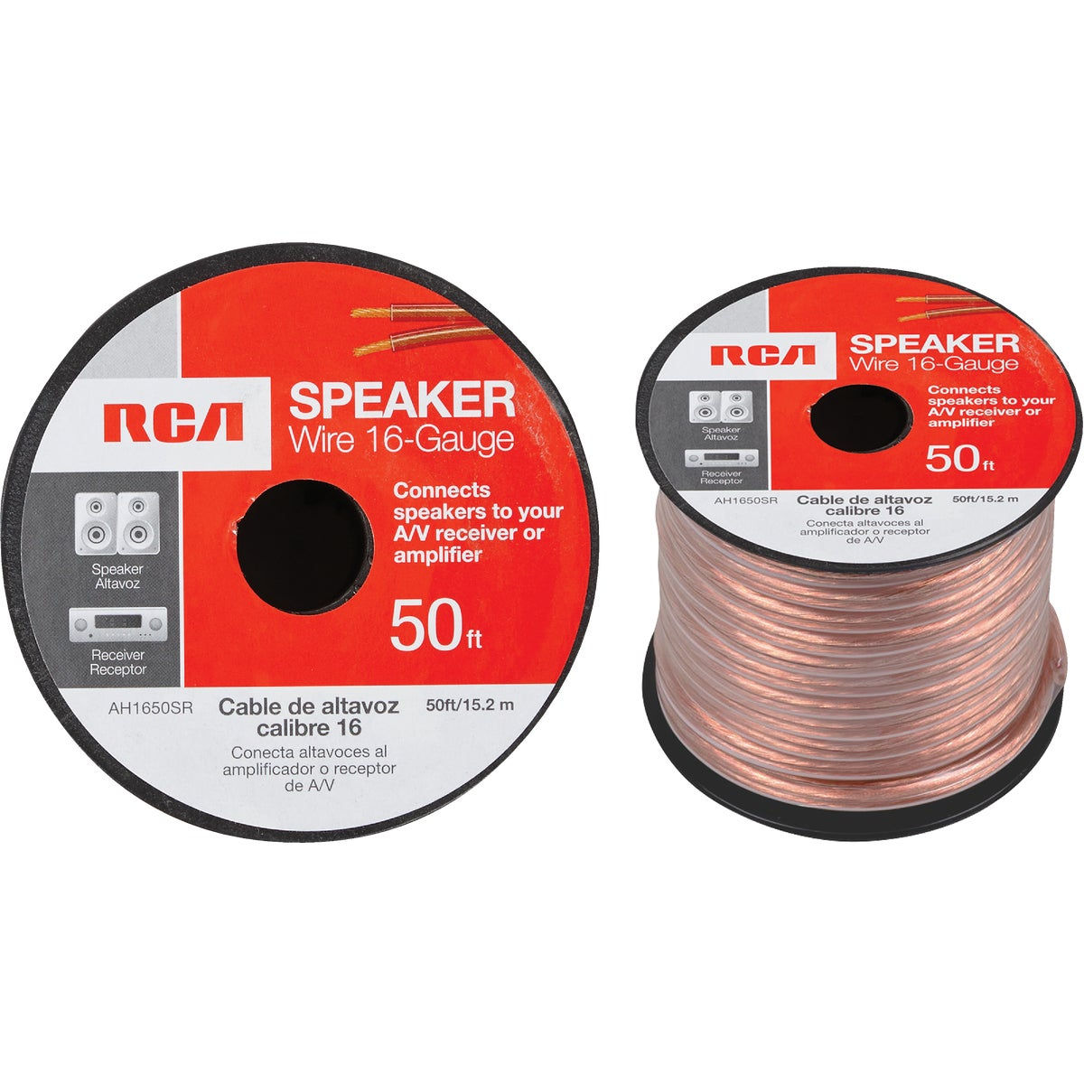 50' 16/2 SPEAKER WIRE - AH1650SR by Audiovox Accessories