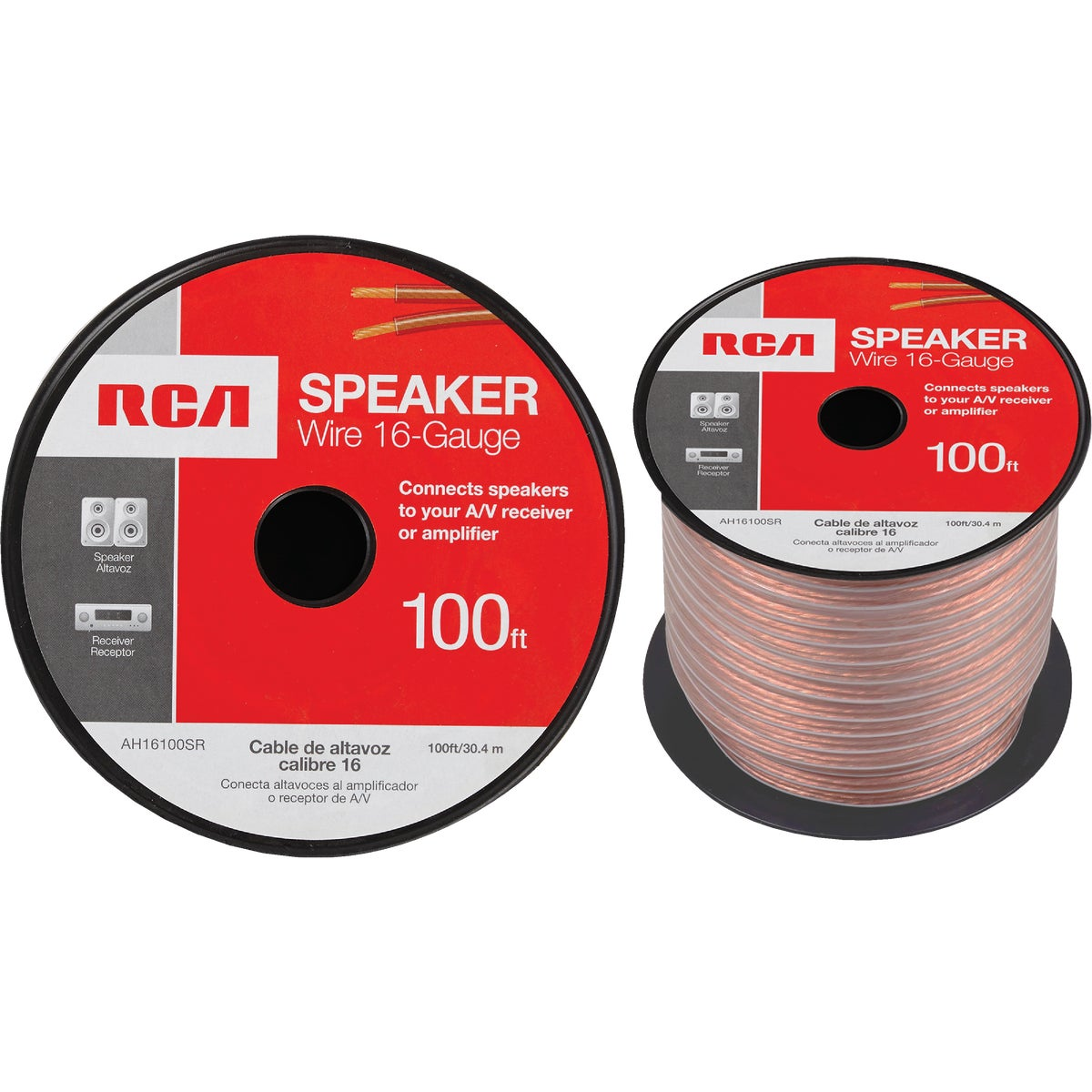 100' 16/2 SPEAKER WIRE - AH16100SR by Audiovox Accessories
