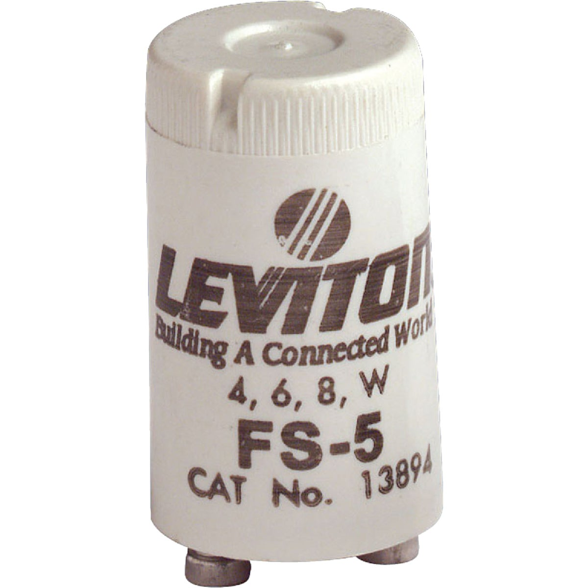 Leviton 4W/6W/8W 2-Pin T8 Fluorescent Starter